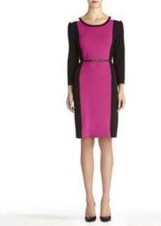 3/4 Sleeve Colorblock Dress