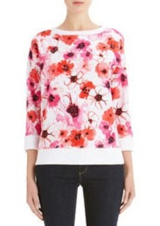 3/4 Sleeve Floral Tee Shirt (Plus)