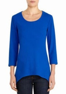 3/4 Sleeve Lightweight Sweater with Scoop Neck