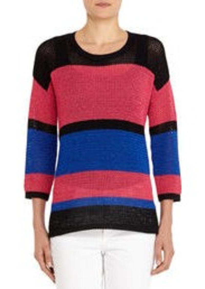 3/4 Sleeve Mesh Tunic Sweater