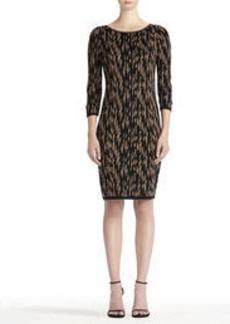 3/4 Sleeve Shift Dress (Plus)