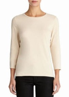 3/4 Sleeve Stretch Cotton Crew Neck Tee Shirt