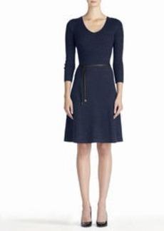 3/4 Sleeve Sweater Dress (Plus)