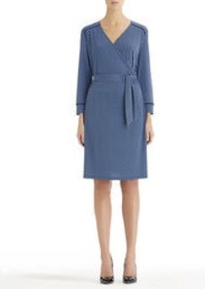 3/4 Sleeve Wrap Dress (Petite)