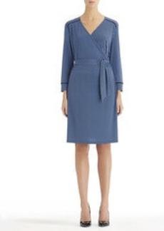 3/4 Sleeve Wrap Dress (Plus)