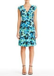40s Short Floral Dress (Plus)