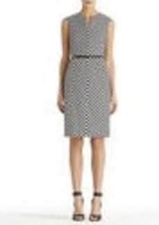 A-Line Dress with Notched Neck