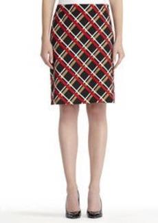 A-Line Ponte Print Skirt