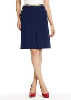 A-Line Skirt with Button Detail