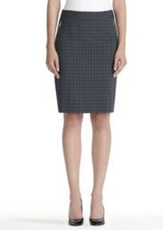 A-Line Skirt with Exposed Zipper