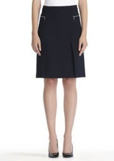 A-Line Skirt with Zip Pockets