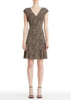 Animal Print 40s Fit and Flare Dress