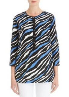 Animal Print Linen Tunic