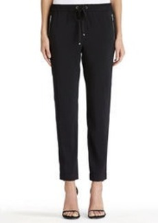 Ankle Pants with Drawstring Waist