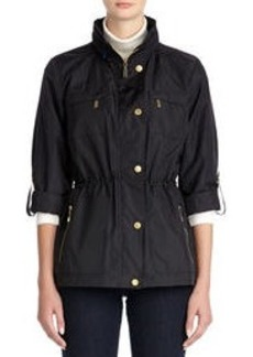 Anorak Jacket with Hood and Roll Sleeves