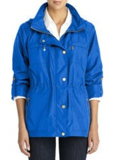 Anorak Jacket with Hood and Roll Sleeves (Petite)