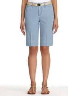 Bermuda Shorts in a Summery Ticking Stripe (Plus)