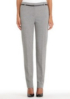 Black and Ivory Ponte Knit Pants