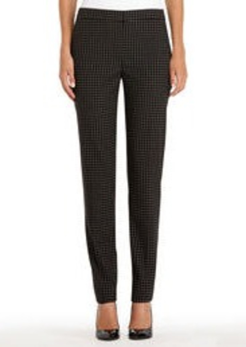 Black and Ivory Tattersall Pants
