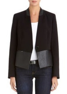 Black Jacket with Faux Leather Accents