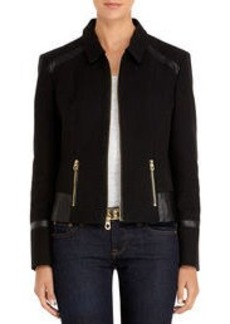 Black Mixed Media Jacket