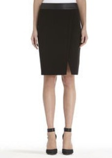 Black Pencil Skirt with Front Slit