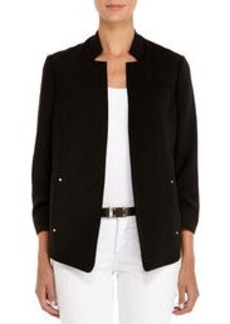 Black Safari Jacket with Ruched Sleeves