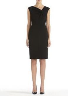 Black Sheath Dress with Asymmetrical Neckline