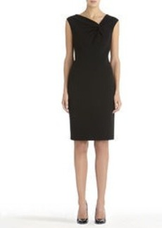 Black Sheath Dress with Asymmetrical Neckline