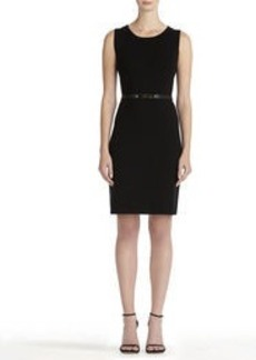 Black Sheath Dress with Crew Neck (Plus)