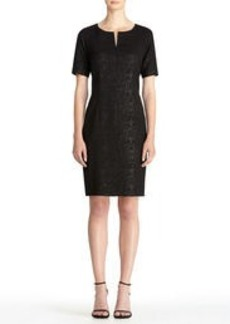 Black Sheath Dress with Snake Print