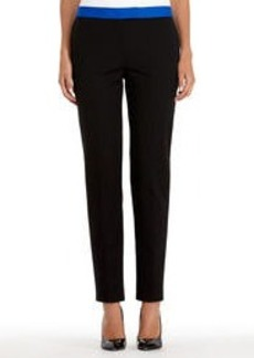 Black Stretch Cotton Slim Dress Pants (Petite)