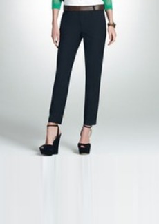 Black Washable Wool Ankle Pants