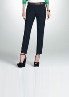 Black Washable Wool Ankle Pants