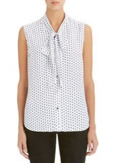 Blouse with Gathered Bow (Petite)