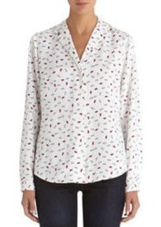 Blouse with Hidden Placket