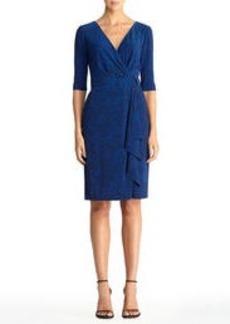 Blue Leopard Wrap Dress
