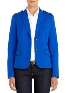 Blue Two-Button Blazer with Epaulets