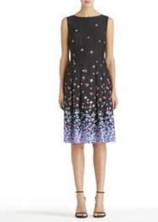 Boat Neck Dress with Pleats