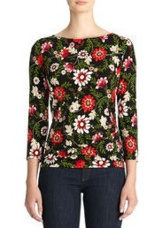 Boat Neck Paisley Top