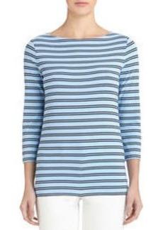 Boat Neck Stripe Pullover (Petite)
