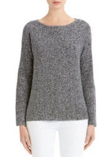 Boat Neck Sweater with Drop Shoulders
