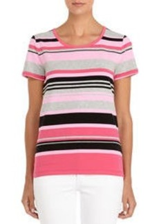 Bold and Beautiful Striped Short Sleeve Shirt