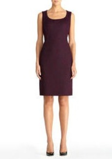 Bonded Lace Sheath Dress with Scoop Neck