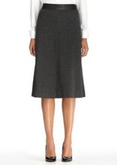 Boot Skirt with Faux Leather Waistband