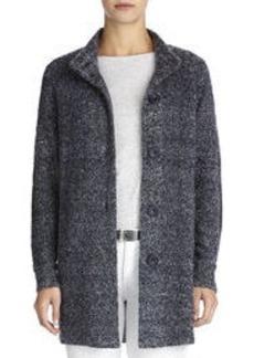 Boucle Mock Knit Jacket