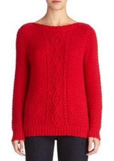 Cable Boat Neck Sweater (Petite)