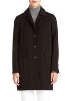 Car Coat with Faux Leather Trim (Plus)