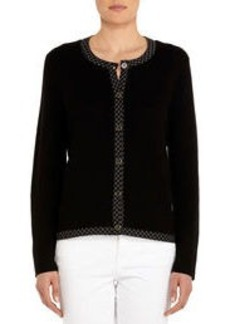 Cardigan with Crew Neck and 3/4 Sleeves