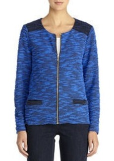 Cardigan with Crew Neck and Long Sleeves (Petite)